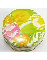 Burst of Spring Beauty Dust Tin Cosmetics Container in Original Box