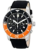 Stuhrling Original Men's 3268.01 Aquadiver Felucca Analog Display Swiss Quartz Black Watch