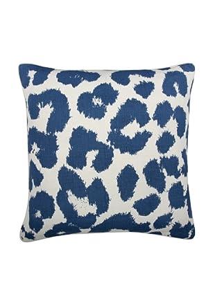 Thomas Paul Leopard Feather Pillow, Marine