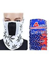 Jstarmart Racing White Face Mask Combo Bandana