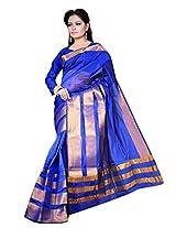 Asavari Royal Blue Contemporary Design Art Silk Banarasi Saree