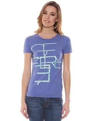 Gianfranco Ferré Camiseta Letras (Azul)
