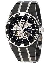 Bulova Mens 98A108 Marine Star Mechanical Hand-Wind Automatic Black Dial Watch
