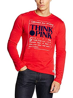 Think Pink Camiseta Manga Larga