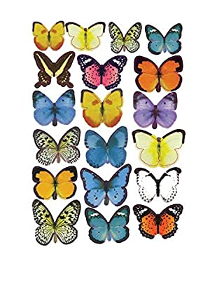 LO+DEMODA Wandtattoo Butterflies Colors Multicolor