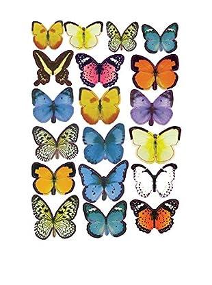 SuperStudio Wandtattoo Butterflies Colors