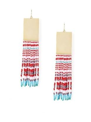 nOir Multicolor Long Fringe Earrings