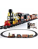 Battery Operated Gift 21 Pieces Remote Control Smoke Train for Children Toy Kids