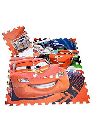 Juego Alfombra Puzzle En Eva 9 Piezas Cars 90 x 90