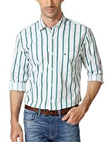 Peter England Classy Striped Slim Fit Shirt