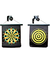 GEE POWER Unisex Magnet Dartboard Set, Small, Black