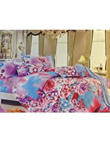 MELODY FLORAL BEDCOVER WITH BEDSHEET SET,BOX PACKING, DOHAR SET, SOFT COTTON