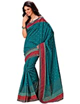 Orbymart Green Color Raw Silk Saree - 55208666