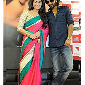 Sonakshi Sinha Georgette and Chiffon Bollywood Replica Designer Saree