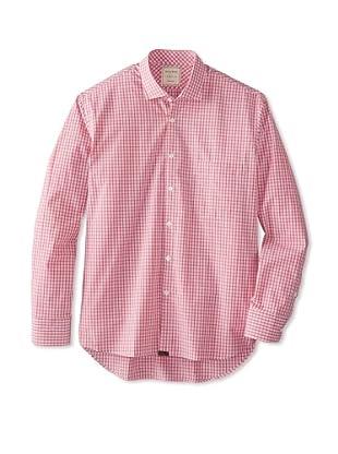 Billy Reid Men's John T Woven Shirt (Red/White)