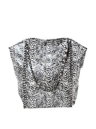 Amrita Singh Bolso Shopping Snakeskin Negro / Blanco