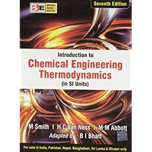 Introduction to Chemical Engineering Thermodynamics: Special Indian Edition