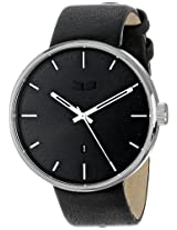 Vestal Unisex Ros3L001 Roosevelt Stainless Steel Watch With Black Leather Strap - Ros3L001