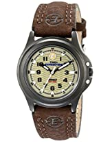 Timex Womens T47042 Expedition Brown Leather Strap Metal Field Watch