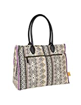 Lassig Vintage Style Diaper Shoulder Bag with Matching Bottle Holder, Baby Changing Mat/Pad and Stroller Hooks, Ethno Sand