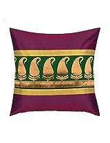 Cushion Cover Brocade Paisley Purple