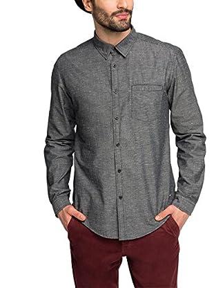 edc by ESPRIT Camisa Hombre  Gris Small