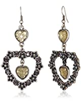 Addons Drop Earrings for Women (RVSD-EARGEN001 AT. SLV)