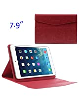 JUJEO ZHUDIAO Envelope Sucker Leather Case for 7.9-Inch Tablets, Red (MSP-345C)
