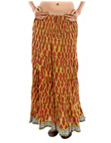 Rajrang Traditional Lace work Women's Wear Printed Long Skirt
