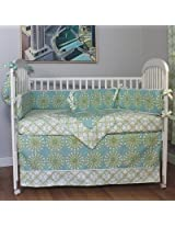 Burst Seagrass 4 Piece Crib Bedding Set by HooHobbers