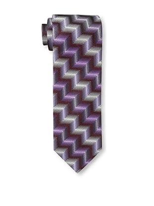 Missoni Men's Large Zig Zag Tie, Purple