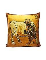 Bull Print Cushion Cover (1pc)