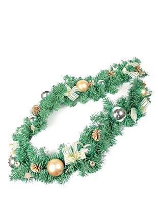 Guirnalda Decorada Navidad Champagne