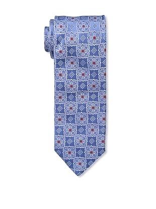 Massimo Bizzocchi Men's Medallion Dots Tie, Blue