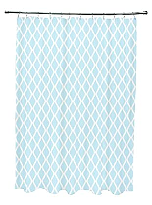 e by design Wave Shower Curtain, Light Blue