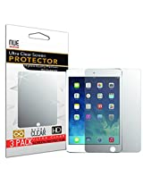 IPAD AIR SCREEN PROTECTOR, Nue Design Cases TM Screen Protector for iPad Air, iPad Air 2, iPad 5 and iPad 6 Screen Protector Anti-Glare, Anti-Scratch, Anti-Fingerprint HD Clear Film (Invisible) [3 PACK]