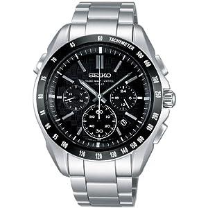 【クリックで詳細表示】[セイコー]SEIKO 腕時計 BRIGHTZ ブライツ クロノグラフ ソーラー電波 ブラック スーパークリアコーティング SAGA077 メンズ