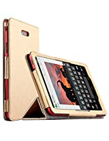 Elite Premium Flip Case Cover for Dell Venue 7 3740 (2014) Android Tablet (3000 series) (Gold) (Check All Images before Buying)