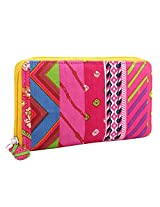 JaipurSe Ladies Pink Printed Cotton Clutch Bags / Wallets [Apparel]