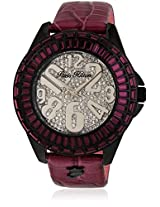 H Ph13576jsb/04 Purple/Silver Analog Watch Paris Hilton