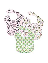 Bumkins Waterproof SuperBib 3 Pack, Girl (G20-Tweet/Bunny Patch/Gazebo) (6-24 Months)