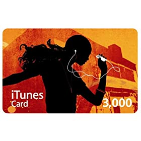 Apple iTunes Music �v���y�C�h�J�[�h 3,000�~ [MA782J/A]