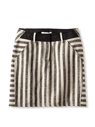 10 CROSBY Women's A-Line Skirt (Black/Ecru)