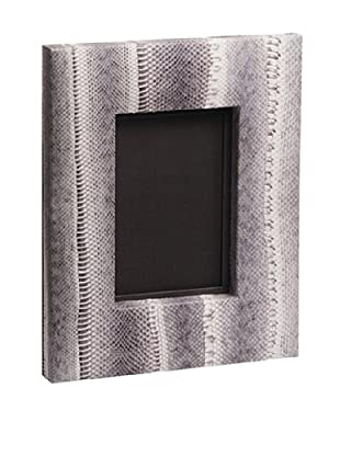 Moo-Moo Designs Wide Snake Picture Frame, Bleached Grey, 4