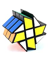 YJ Windmill Cube Black 3x3x3 Shape Mod Twisty Puzzle Toy 3x3