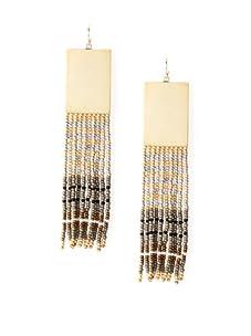 nOir Natural Multicolor Long Fringe Earrings