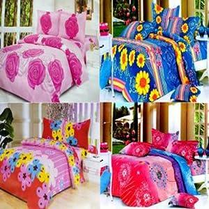 Double Bedsheets Combo Of 4