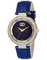 Gio Collection Analog Blue Dial Women's Watch - G0058-05