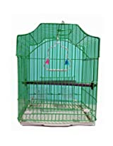 Pet Club51 HIGH QUALITY STYLISH METAL CAGE FOR GREEN -MEDIUM