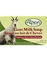 Alpen Secrets Fragrance Free Goat Milk Soap, 5-Ounce (Pack of 4)